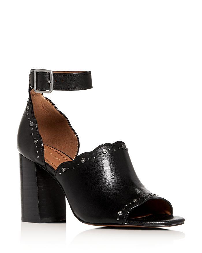 a81ba0ec20cb COACH Women s Marnie Ankle Strap High Block-Heel Sandals ...