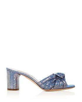 Casadei - Women's Glitter Block-Heel Slide Sandals
