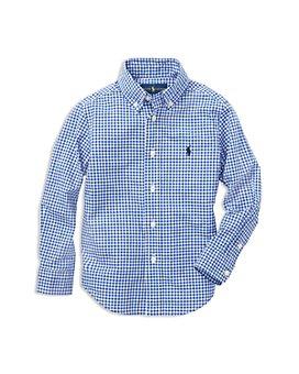 Ralph Lauren - Boys' Gingham Button-Down Shirt - Little Kid, Big Kid