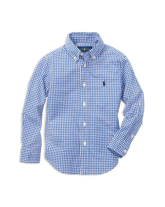Ralph Lauren Boys' Gingham Button-Down Shirt - Little Kid, Big Kid    Bloomingdale's