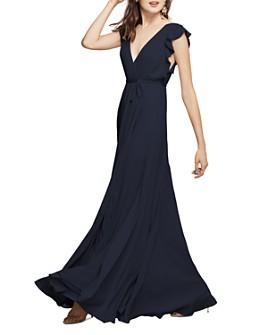 Watters - Franklin Georgette Wrap Gown