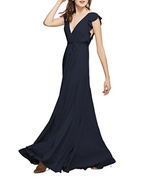 Watters - Franklin Georgette Wrap Gown
