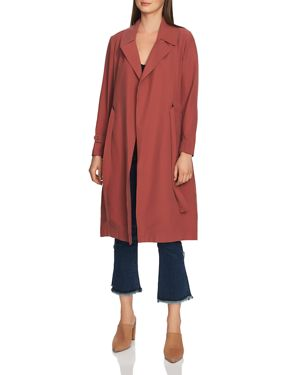 Image of 1.state Belted Soft-Twill Trench Coat