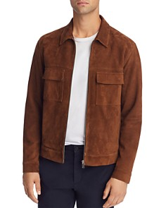 Theory - Jamie Suede Zip Jacket - 100% Exclusive