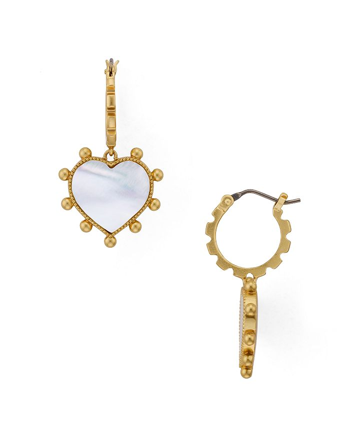 4eca4ce0e0 Tory Burch Heart Charm Earrings | Bloomingdale's