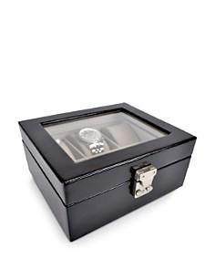 ROYCE New York - Aristo Leather Six Watch Box Display