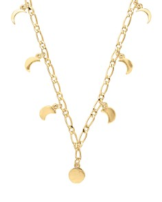 """Alex and Ani - Lunar Phase Adjustable Necklace in 14K Gold-Plated Sterling Silver or Sterling Silver, 15"""""""