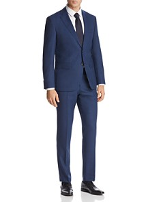 BOSS - Johnstons/Lenon Mélange Micro-Checked Regular Fit Suit