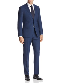 5f6cce962 BOSS Hugo Boss - Johnstons/Lenon Mélange Micro-Checked Regular Fit Suit -  100 ...