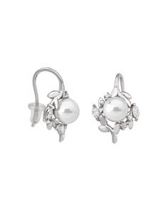Majorica - Simulated Pearl Cluster Petal Earrings in Sterling Silver