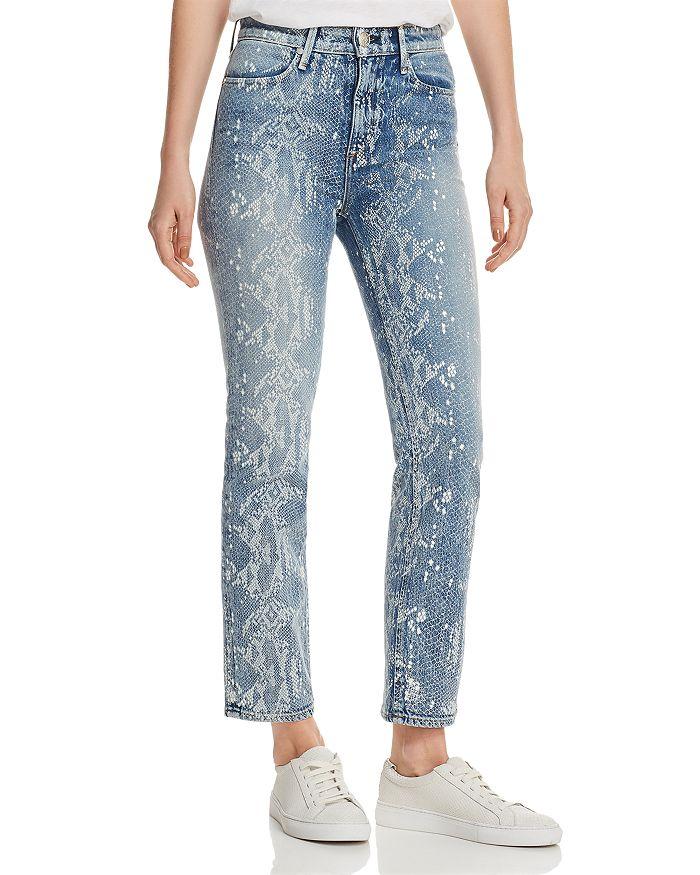 rag & bone/JEAN - Nina Ankle Cigarette Jeans in Worn Snake