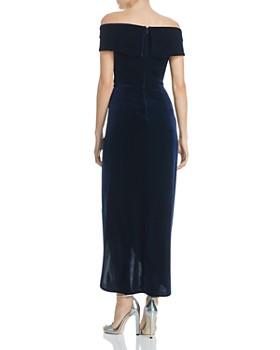 AQUA - Off-the-Shoulder Velvet Gown - 100% Exclusive