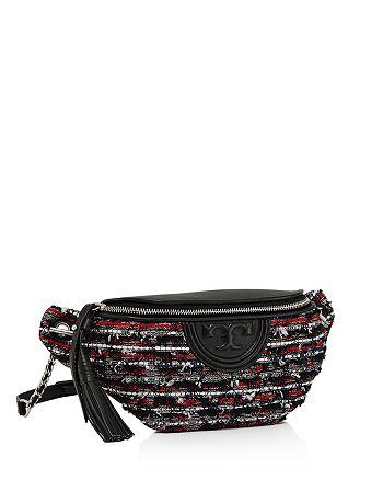 0839f5aedac2 Tory Burch - Fleming Tweed   Leather Belt Bag