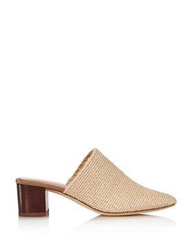 Via Spiga - Women's Mitchel 2 Woven Block Heel Mules - 100% Exclusive