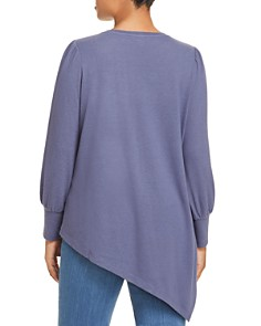 VINCE CAMUTO Plus - Puff Sleeve Asymmetric Tee