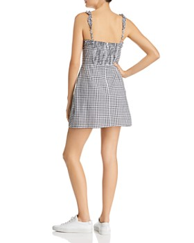 Lost and Wander - Mimosa Ruffled Gingham Mini Dress