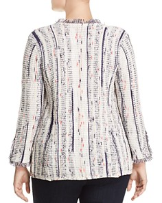NIC and ZOE Plus - Harmony Frayed Open Jacket