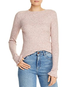 Rebecca Taylor - Ruffle-Trimmed Ribbed Sweater