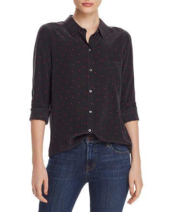 Rails - Kate Heart Print Silk Shirt