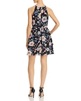 AQUA - Floral Print Tiered Dress - 100% Exclusive
