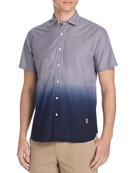 Psycho Bunny - Short-Sleeve Ombré Striped Classic Fit Shirt