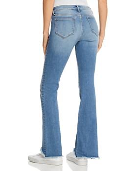 AQUA - Step-Hem Flared Jeans in Light Wash - 100% Exclusive