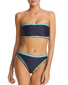 Platinum inspired by Solange Ferrarini - Stitched Bandeau Bikini Top & Stitched High-Waist Bikini Bottom - 100% Exclusive