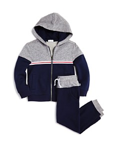 Splendid - Boys' Color-Block Zip-Up Hoodie & Jogger Pants - Little Kid