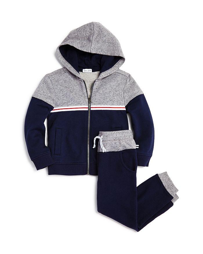 Splendid - Boys' Color-Block Zip-Up Hoodie & Jogger Pants - Little Kid
