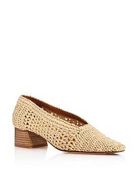Miista - Women's Noa Raffia Stacked Heel Pump
