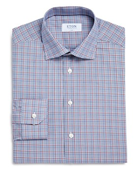 d3c00cd7fd Eton - Multi-Check Slim Fit Dress Shirt ...