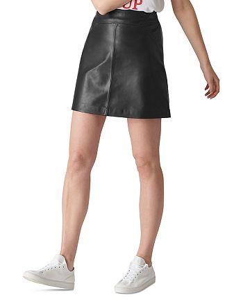 Whistles - Leather Mini Skirt