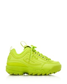 FILA - Women's Disruptor 2 Premium Neon Lace-Up Sneakers