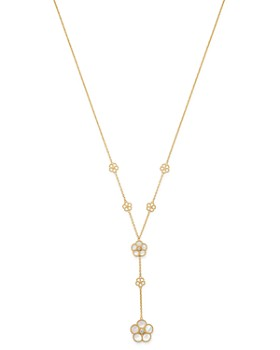 "Roberto Coin - 18K Yellow Gold Daisy Mother-of-Pearl & Diamond Y-Necklace, 16"" - 100% Exclusive"