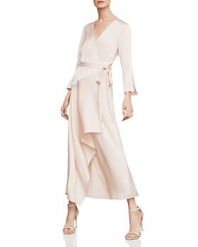 BCBGMAXAZRIA - Asymmetric Satin Wrap Dress