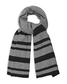 REISS - Elvin Striped Cashmere Scarf