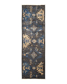 """Solo Rugs - Eclectic Ankara Hand-Knotted Area Rug, 2'6"""" x 8'2"""""""