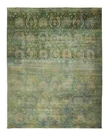 "Solo Rugs - Vibrance Collection Leon Hand-Knotted Area Rug, 9'1"" x 11'8"""