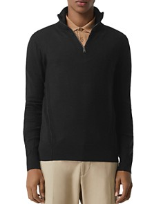 Burberry - Connor Check-Trimmed Half-Zip Sweater