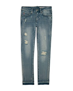 ag Adriano Goldschmied Kids - Girls' The Angie Ankle Cut Jeans in Blue - Big Kid