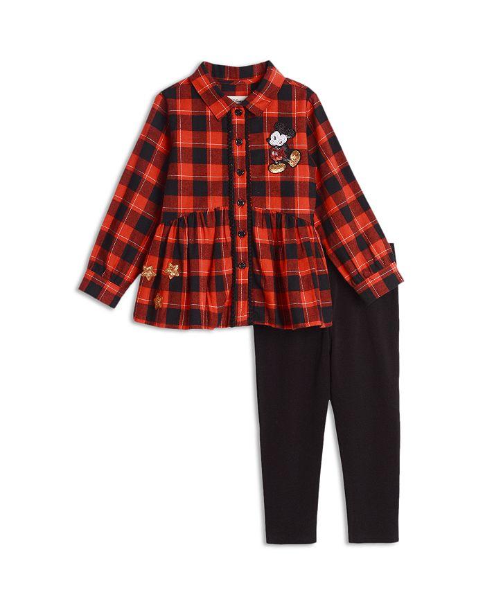 Pippa & Julie - Disney Girls' Mickey Flannel Tunic & Leggings Set - Little Kid