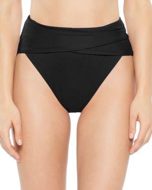 BECCA BY REBECCA VIRTUE Becca By Rebecca Virtue Color Code Wrap Front Bikini Bottom in Black