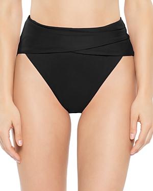 Becca by Rebecca Virtue Color Code Wrap Front Bikini Bottom