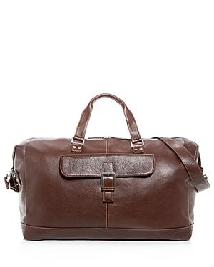 Boconi Tyler Cargo Leather Duffel Bag