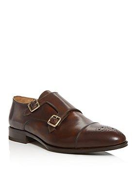PASTORI - Men's Romulus Leather Double Monk-Strap Loafers