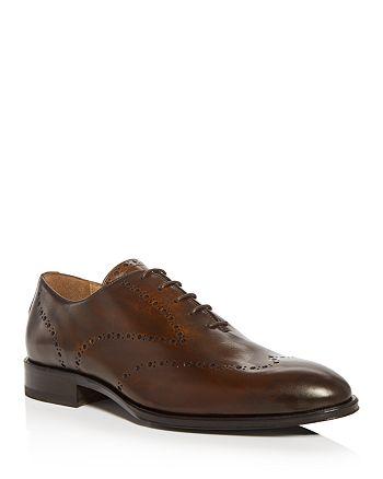 PASTORI - Men's Augustus Leather Plain-Toe Oxfords