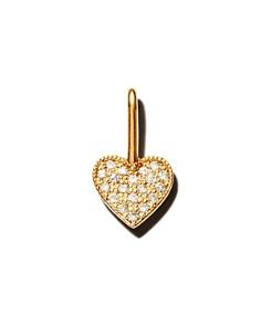 Zoë Chicco - 14K Yellow Gold Medium Diamond Heart Charm