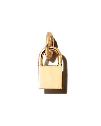 Zoë Chicco - 14K Yellow Gold Midi Bitty Padlock Charm