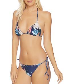 Splendid - Long Lines Reversible Triangle Bralette Bikini Top & Long Lines Reversible Side Tie Bikini Bottom