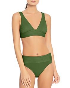 Robin Piccone - Lily V-Neck Bikini Top & Lily Banded Bikini Bottom